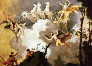 Szövegbe Apollón átvezeti naphintóját az égen
