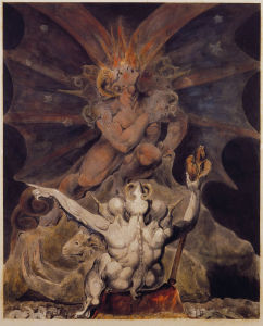 William Blake - A fenevad száma 666 - Philadelphia,_Rosenbach_Museum_and_Library