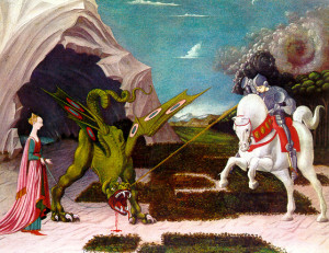 Paolo Ucello - Szent György legyőzi a sárkányt