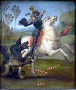Raffaello - Szent György legyőzi a sárkányt