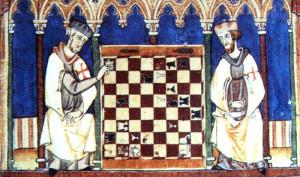 Templomos lovagok sakkoznak