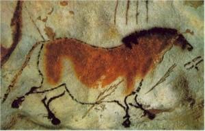 ló barlangrajzon