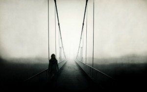 Bridge-Man-Fog-Dark