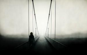 Bridge-Man-Fog-Dark